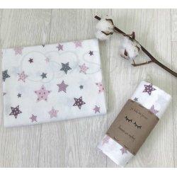 Пеленка для новорожденного Звезды пудра