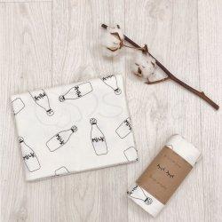 Пеленка для новорожденного Msonya фланель молоко