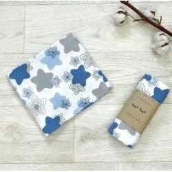 Пеленка для новорожденного Msonya фланель Пряники голубые
