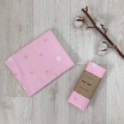 Пеленка для новорожденного Msonya фланель на розовом