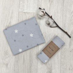 Пеленка для новорожденного Msonya фланель звезды на сером
