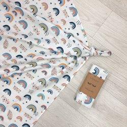 Пеленка для новорожденного Msonya муслин Радуги