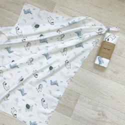 Пеленка для новорожденного Msonya Жирафики