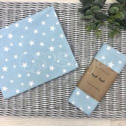 Пеленка для новорожденного Msonya звезды россыпь белые на голубом