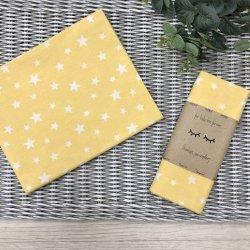 Пеленка для новорожденного Msonya Звезды россыпь белые на желтом