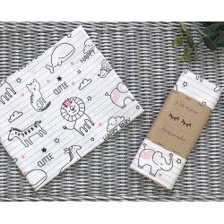 Пеленка для новорожденного Msonya Baby Animals розовый
