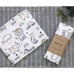 Пеленка для новорожденного Msonya Baby Animals желтый