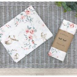Пеленка для новорожденного Msonya птицы в розах