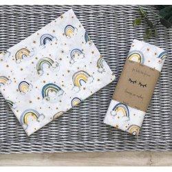 Пеленка для новорожденного Msonya Радуги мята