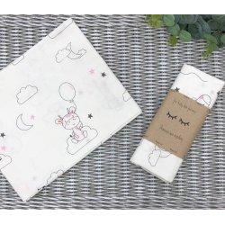 Пеленка для новорожденного Msonya Зверята серые