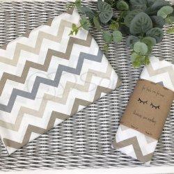 Пеленка для новорожденного Msonya зигзаг серый с бежевым
