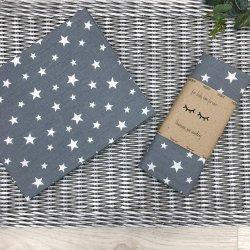 Пеленка для новорожденного Msonya Звезды россыпь белые на графите