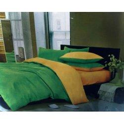 Постельное белье Moon Love ранфорс люкс Микс G03 green+yellow