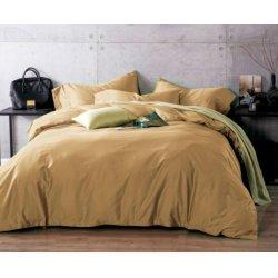 Однотонное постельное бельё ранфорс люкс Moon Love G03 карамель