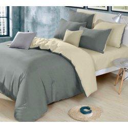 Однотонное постельное бельё Moon Love ранфорс люкс G03 grey+beige