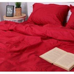 Красное однотонное постельное бельё Moon Love ранфорс G03 red