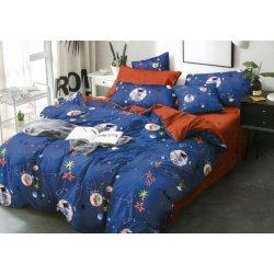 Подростковое постельное белье сатин Космос Moon Love ST367