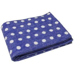 Детское одеяло Vladi Горох Люкс синее