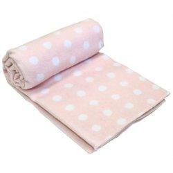 Детское одеяло Vladi Горох Люкс розовое