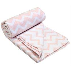 Детское одеяло Vladi Зигзаг Люкс розовое