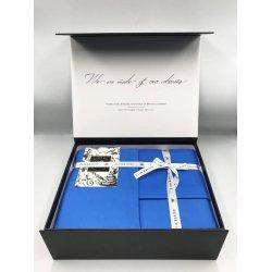 Постельное белье Oliver Hill сатин Premium синее