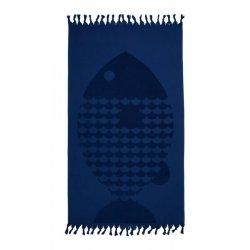 Пештемаль Pestemal Barine 50х90 Fish Lacivert синий