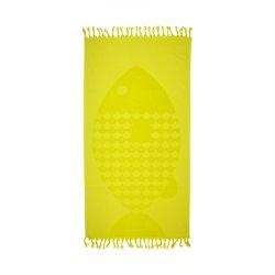Пештемаль Pestemal Barine 50х90 Fish Lacivert Fish Lime желтый