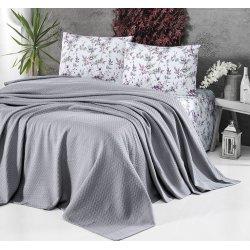 Летнее постельное белье First Choice с покрывалом Pike Gri