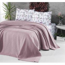 Летнее постельное белье First Choice с покрывалом Pike Pudra