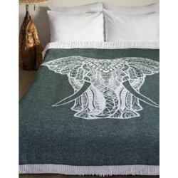 Плед Lotus Zeus Elephant зеленый 140х200