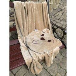 Плед детский Novita Well Soft Медвежонок с чехлом-подушкой