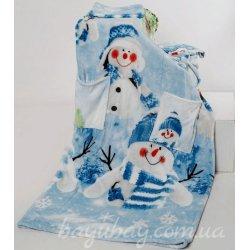 Плед с рукавами Снеговик