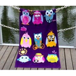 Детское пляжное полотенце Owls Family