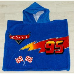 Полотенце пончо для детей First Choice Cars blue