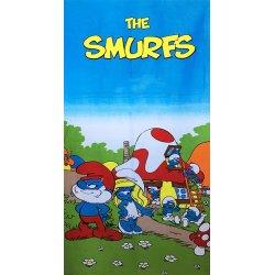 Детское пляжное полотенце Smurfs