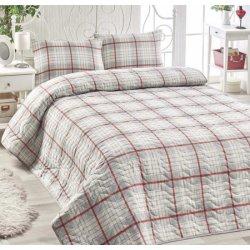 Покрывало стёганое на кровать Eponj Home Burberry gri с наволочками