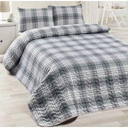 Покрывало на кровать стёганое Eponj Home Burberry siyah с наволочками