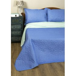 Стёганое покрывало на кровать Lotus Broadway Синее