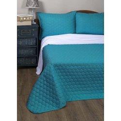 Стёганое покрывало на кровать Lotus Broadway Comb бирюзовое