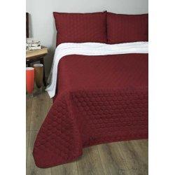 Стёганое покрывало на кровать Lotus Broadway Comb бордо