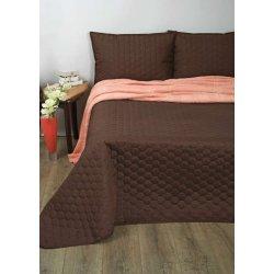 Стёганое покрывало на кровать Lotus Broadway Comb коричневое