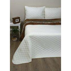 Стёганое покрывало на кровать Lotus Broadway Comb кремовое
