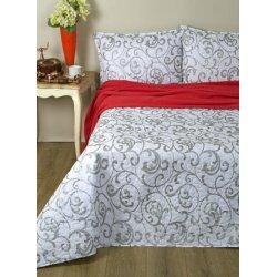 Стёганое покрывало на кровать Lotus Broadway Monogram серебро