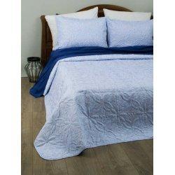 Стёганое покрывало на кровать Lotus Broadway Sheen голубое
