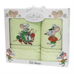 Набор махровых полотенец Mouse Green