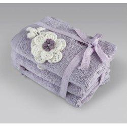 Набор махровых полотенец Irya Lona lila 30*50 (3 шт)