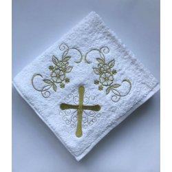 Крыжма для крещения Sikel 100*100 золото