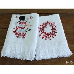 Набор новогодний махровых полотенец TAG 10