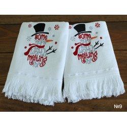 Набор новогодний махровых полотенец TAG 9