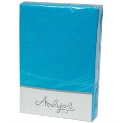 Простынь на резинке махровая Acelya бирюзовая 160х200